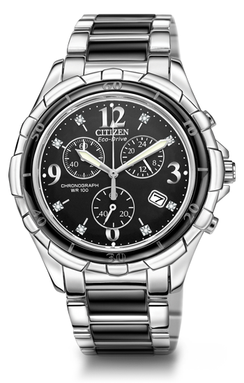 Steel & Ceramic Diamond Chronograph | FB1241-53E